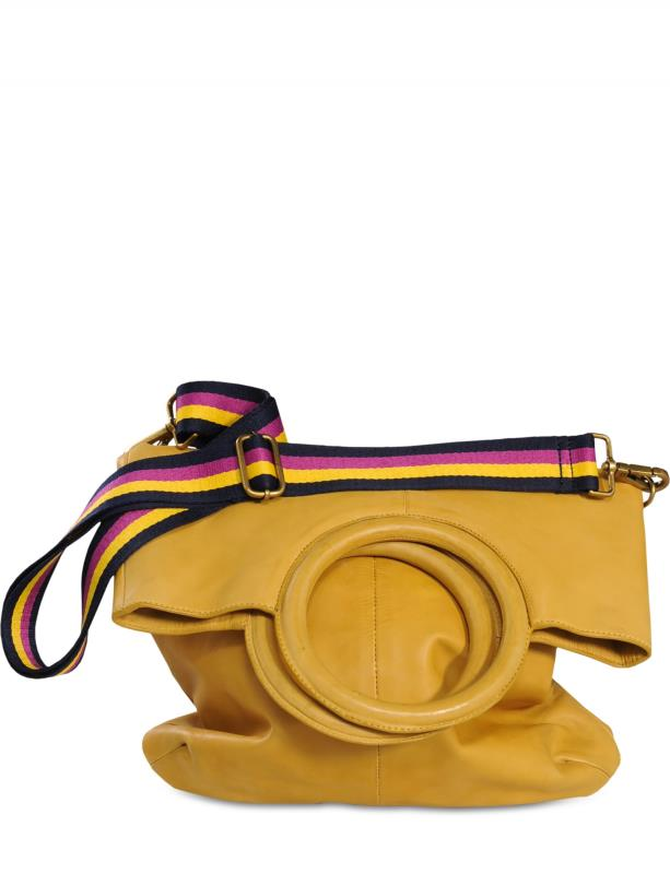 SAC EN CUIR JAUNE MOUTARDE SUMMUM WOMAN