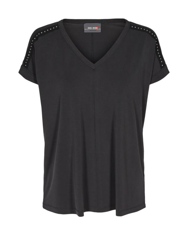 T-SHIRT DARA V-NECK BLACK MOS MOSH