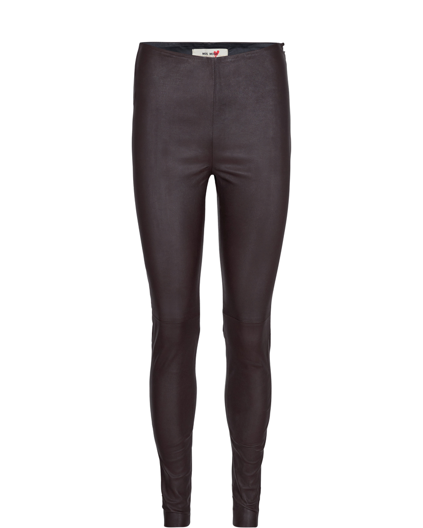 LEGGING STRETCH CUIR MARRON LUCILLE MOS MOSH
