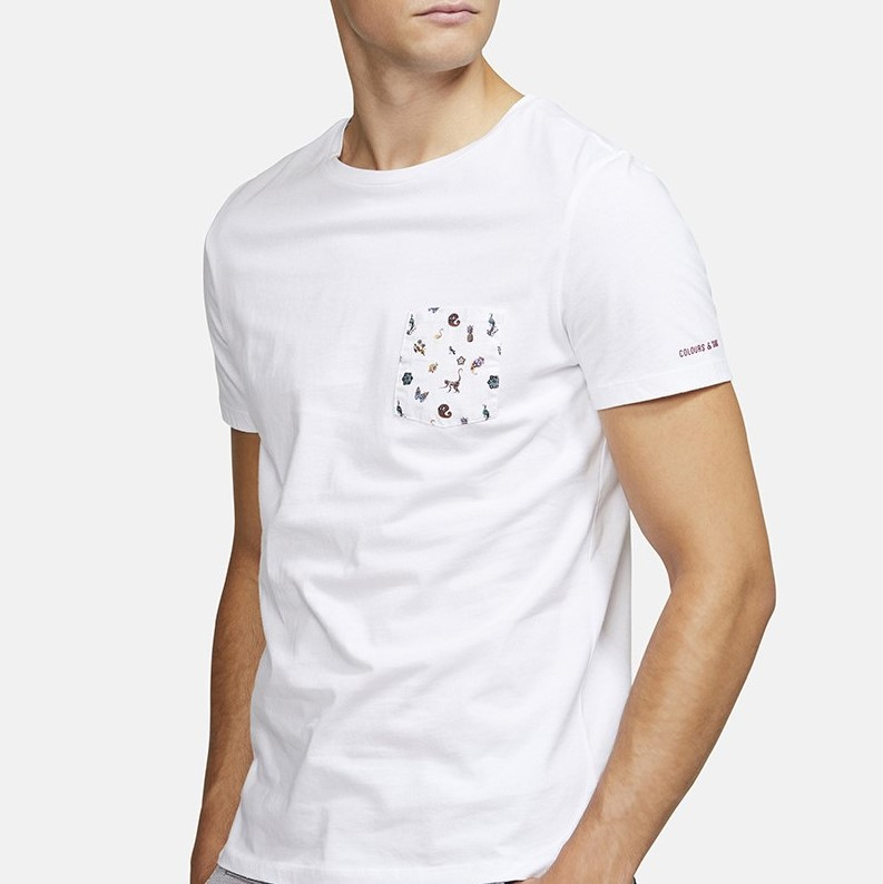 T-SHIRT BRUNO PAISLEY BLANC COLOURS AND SONS