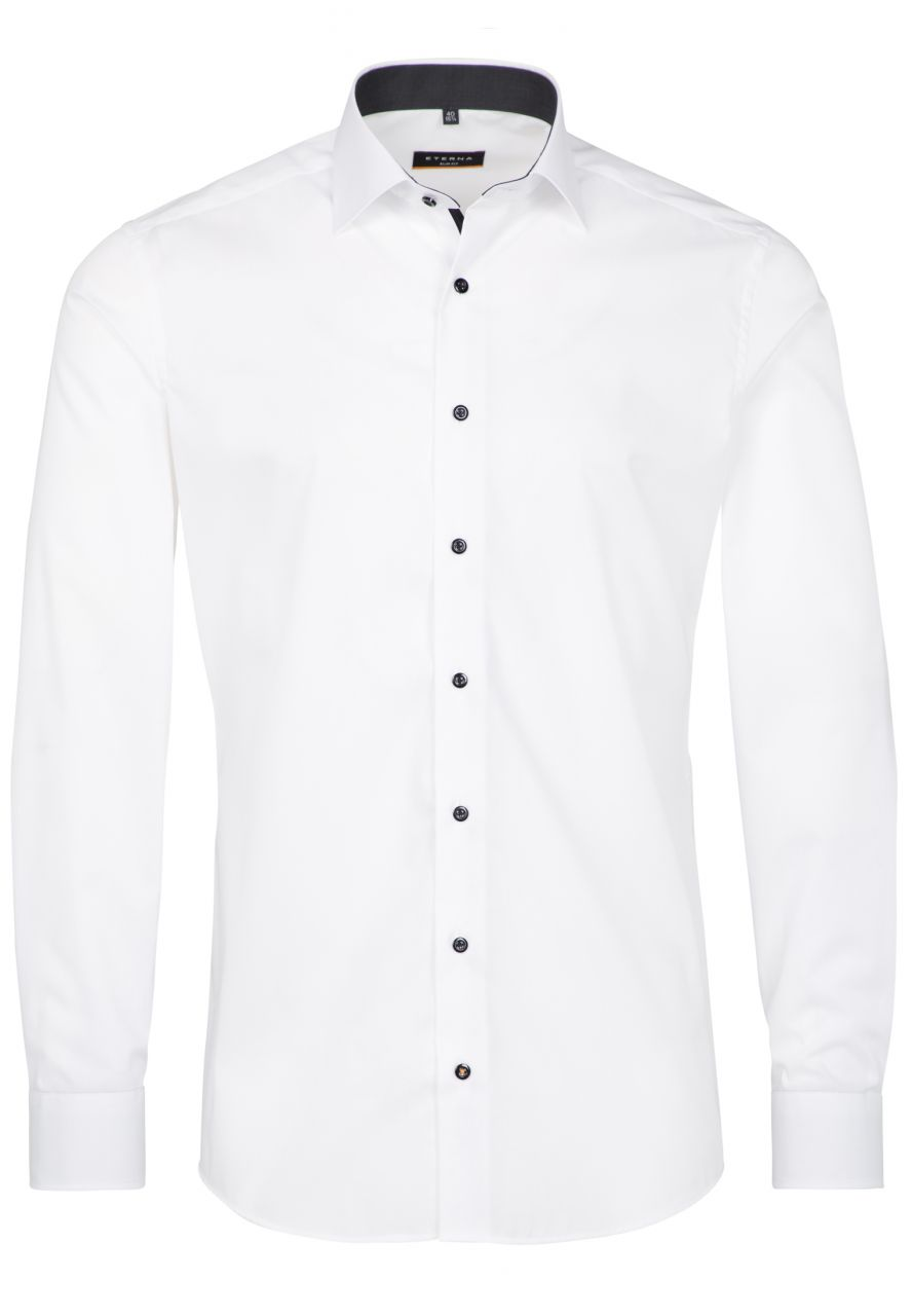 CHEMISE À MANCHES LONGUES SILM FIT STRETCH BLANC