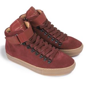 SNEAKERS FERRY VELOURS VEAU BORDEAUX